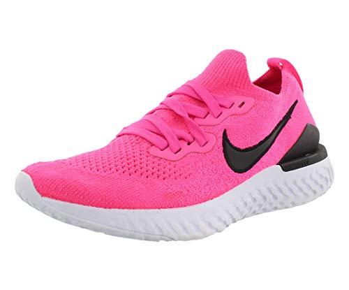 Nike Epic React Flyknit 2, Scarpe da Campo e da Pista Donna, Multicolore (Pink Blast/Black-White 601), 39 EU