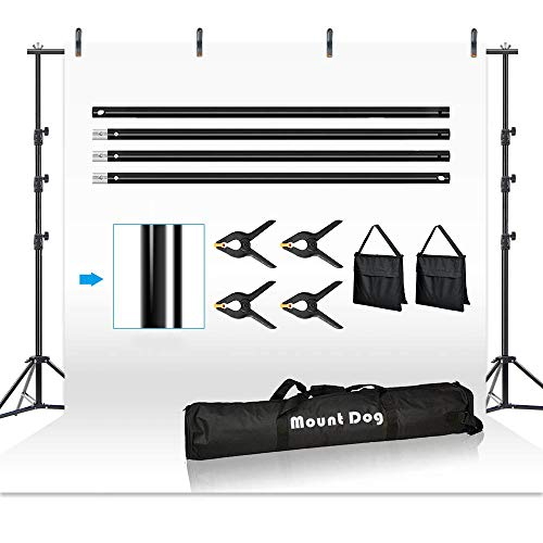 Monkibag Heavy Background Frame Height-Adjustable Tripod T-Shaped Background Stand is Used for Photo Studio or Video Photography Stand Muslin Background Frame Color : Black, Size : 200x200cm