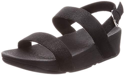 FitFlop Lottie Glitzy Sandal, Mujer, Negro (Black 001), 41 EU