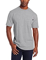SUPERIOR COMFORT FIT: Our classic crewneck pocket tee is made of 100% heavyweight, soft jersey-knit cotton. Extra-strong taped shoulder & neck seams for added durability. Tagless labeling eliminates chafing. Long tail looks good tucked or untucked.