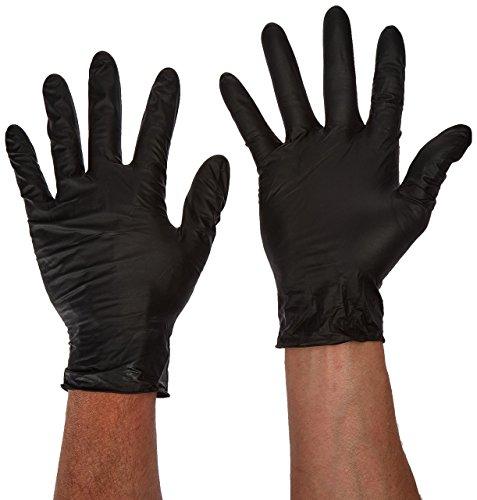 Atlantic Safety Products Lightning Gloves (Black, X-Large) - Box of 100, (Model: ASPBXL)