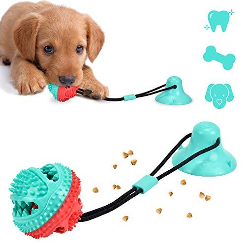 Juguete para Perros con Ventosa,Juguete Multifuncional Perros,Juguete para Perros Molar,Dientes limpios, Apto para Perros pequeños y medianos. (Style A)
