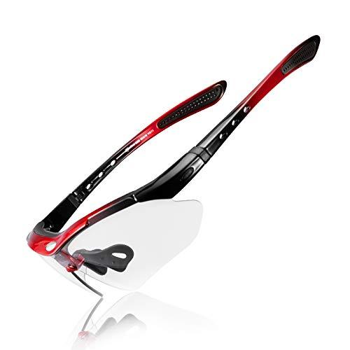 ROCKBROS Gafas Fotocromáticas Lente Transparentes Deportivas Protección UV400 para Ciclismo Bicicleta Running...
