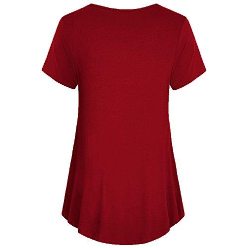 PANGCONK Zwangerschapsmode, bovenstuk, losse zomer, korte mouwen, zwangerschapsmode, jurk, dubbellaags, borstvoedingsshirt, zwangerschap, T-shirt, comfortabele tuniek