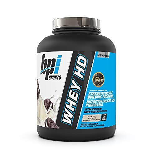 Bpi Sports Whey-HD Supplement, 4 lbs, Milk & Cookies