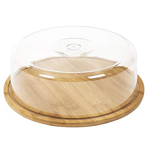 Acan Quesera de bambú con Tapa metacrilato de 28 cm