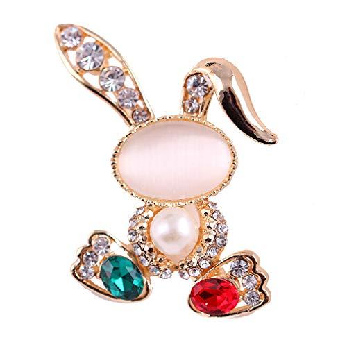 YAZILIND Moda Opal Broche Collar Hebilla Pin Mujeres Lindo Animal Pecho Ropa Accesorios Fiesta Ramillete Conejo