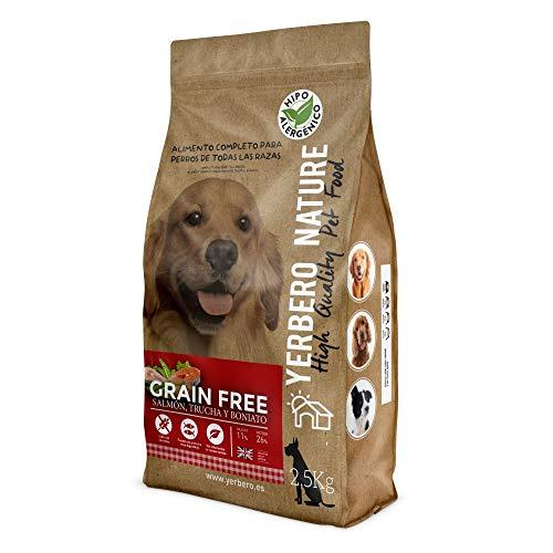 YERBERO Nature Grain Free Comida SIN Cereales salmón/Trucha para Perros 2,5kg