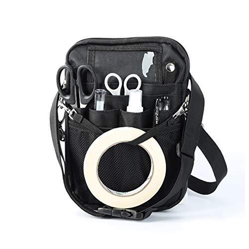 GuangTouL Riñonera para enfermera con soporte de cinta, bolsa de almacenamiento multifuncional para enfermera, multicompartimiento para estetoscopios, tijeras de vendaje y otros suministros médicos
