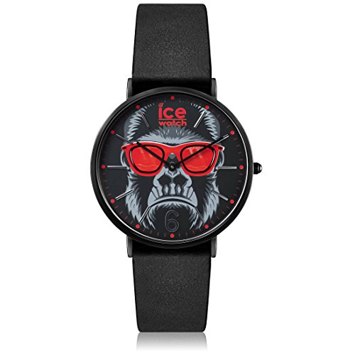 Ice-Watch - ICE chinese Black Red - Men's (Unisex) wristwatch with leather strap - 001470 (Medium)