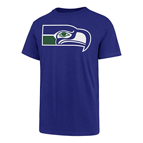 OTS NFL Seattle Seahawks Men's Rival Tee, Team Color Legacy Logo, XX-Large