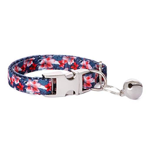 waaag Haustierartikel, (Frangipani-Blüten) Katzenhalsband, Hundehalsband, Katzenleine, Hundeleine, Katzengeschirr, Hundegeschirr (Halsbänder, XS)