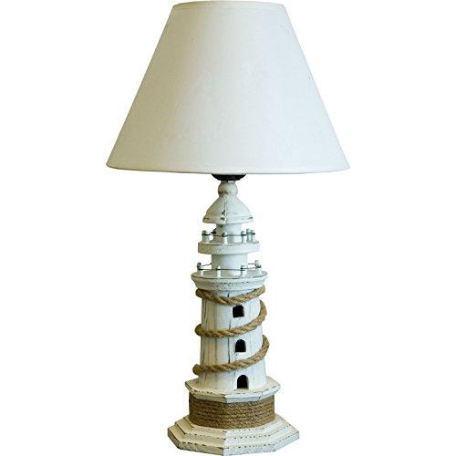 Leuchtturm Tischlampe - Weiß - 40cm