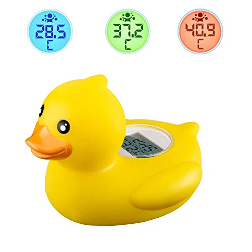JAOK Baby Bath Thermometer,Bath Water Temperature Digital Room Thermometer,afety Rubber...