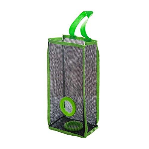 bestomz porta sacchetti di plastica Dispenser sacchetti di spazzatura in rete Dispenser di sacchetti di plastica per la cucina (Verde)