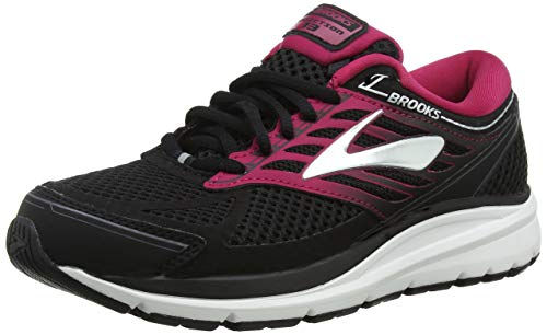 Brooks Women Addiction 13 Running Shoes, Black/Pink/Grey, 7 B US