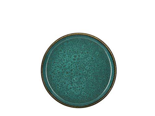 BITZ - Teller/Kuchenteller/Dessertteller - Steingut - Ø 21 cm - grün/grün