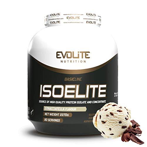 Evolite Nutrition ISOELITE 2270g - Whey Protein Isolate - Muskelaufbau - Molkeneiweiss - Straciatella