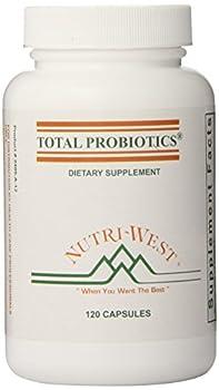 nutri-west Total Probiotics 120 Capsules 2.4 Ounce