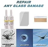 ZEWAN [1 Set] Agente de reparación de Parabrisas, Herramientas de reparación de Ventanas de Bricolaje para restauración de Grietas de arañazos de Vidrio (Blanco B)