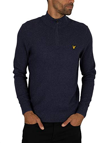 Luxury Fashion | Lyle & Scott Heren KN906VZ56 Donkerblauw Katoen Truien | Herfst-winter 19