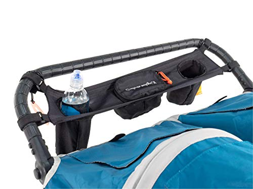 Kingdom Strollers Double Stroller Organizer with Cup Holders - Universal Parent Console Organizer, The Perfect Stroller Accessory for Parks, Jogging, and Travel