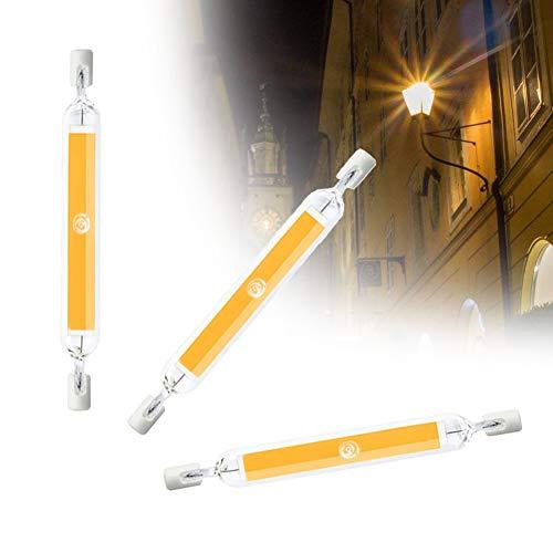 COMY 20W R7S LED Lampe 118mm Dimmable, Linear Licht J118 Brenner-Ende 2000Lumen 360° Abstrahlwinkel Leuchtmitte COB Filament Fluter 200W Halogen Ersatz,Cool White,110V~120V