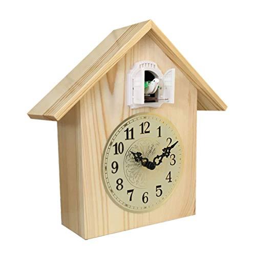 kerryshop Reloj Despertador Sala de Estar Reloj de Cuco Mute Reloj Inteligente Madera Maciza Mute Moderno Minimalista Reloj de péndulo Creativo Reloj Inteligente for niños Reloj de Escritorio