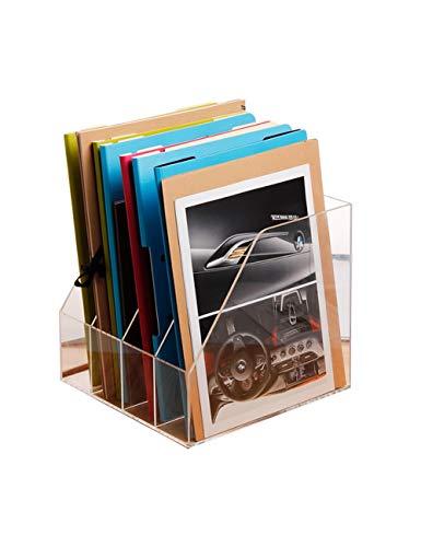 Ablagesysteme Schreibtisch Aktenhalter Zeitungsständer Moderner minimalistischer Stil Aktenfüller Aufbewahrungsbox Schreibwaren Aufbewahrungsbox Transparente Farbe Bürobedarf Schreibwaren