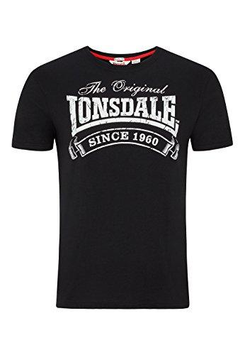 Lonsdale Herren Langarmshirt T Shirt Trägerhemd Martock schwarz (Schwarz) Large