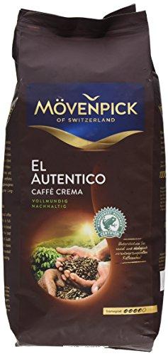 Mövenpick El Autentico Crema ganze Bohnen, 1er Pack (1 x 1 kg)