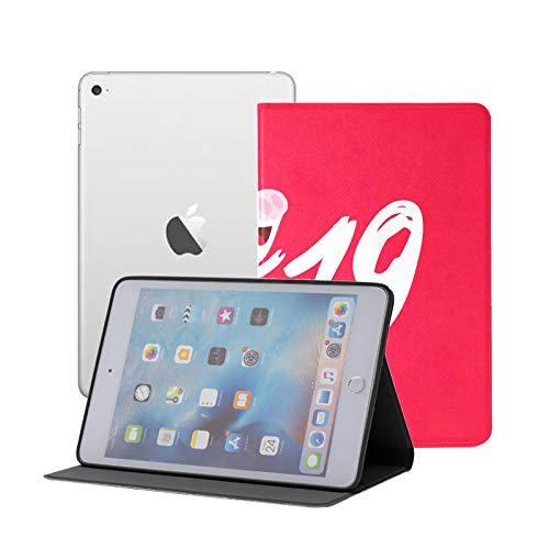IpadCaseSlimFolio Greeting 2019 New Year Cartoon Pig IpadMiniCoverForBoys Ipad Mini 1/2/3 Auto Sleep/wake With Multi-angle Viewing For Ipad Mini 3/ Mini 2/ Mini 1