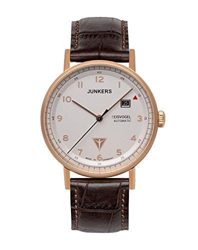 Junkers Herren Analog Automatik Uhr mit Leder Armband 67564