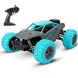 WGFGXQ Coche de Control Remoto, 36 km/h Off Road Control Remoto de Alta Velocidad 1:14 Monster Truck Toys, 4WD 2.4 GHz RC Buggy, Vehículo Todo Terreno para niños niñas -