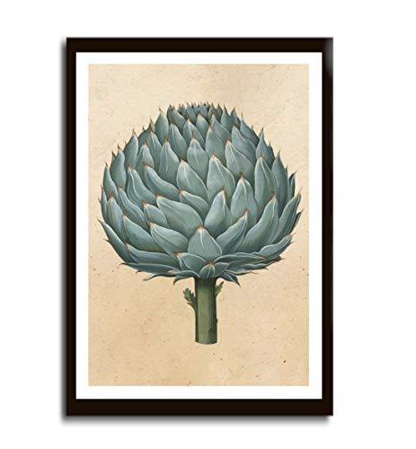 Poster Bild Gemüse Artischocke Vintage ohne Rahmen