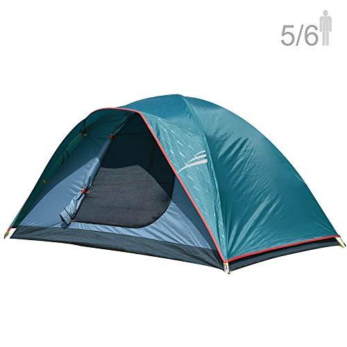 NTK Cherokee GT Tente de camping familiale pour 5 à 6 personnes 9,8 x 9,8 m 100 % imperméable à l'eau 2500 mm, facile à assembler, tissu durable, couverture complète Rainfly – Micro-moustiques