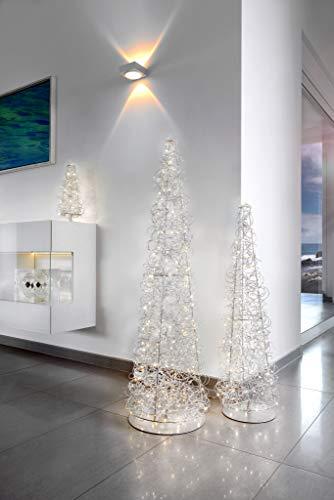 Sompex – Lámpara de mesa de filamento aluminio plateado C