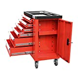DNA MOTORING 30.5' W X 36' H X 18'D Heavy Duty Lockable Slide Tool 6-Drawer Chest Rolling Tool Cart Cabinet (TOOLS-00002) with Keys
