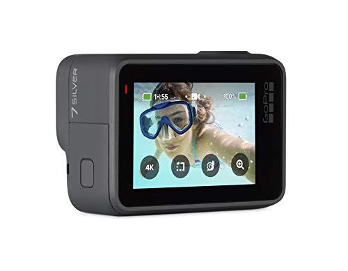 GoPro HERO7 Argent Silver CHDHC-601  - Action Camera Numérique Étanche Écran Tactile 4K Video HD 10MP Photos - 1
