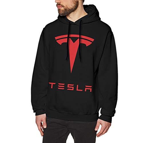 MYHL Men's Tesla Graphic Fashion Sport Hip Hop Hoodie Sweatshirt Pullover Tops