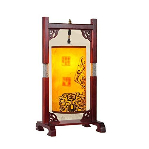 Bureaulampen tafellampen en tafellampen slaapkamer hoofdlamp Chinese staande lamp Retro massief houten vloerlamp slaapkamer woonkamer lamp