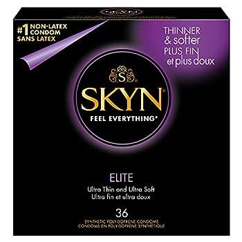 SKYN Elite Non-Latex Lubricated Condoms 36 Count