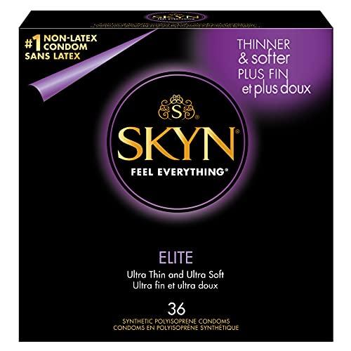 SKYN Elite Non-Latex Lubricated Condoms, 36 Count