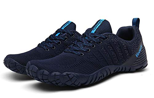 Zapatillas de Trail Running Barefoot Unisex-Adulto Minimalistas Zapatillas de Deporte Exterior Azul45