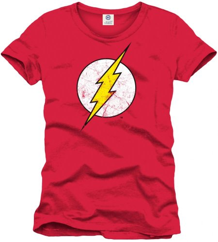 Flash Herren Logo T-Shirt, rot, L