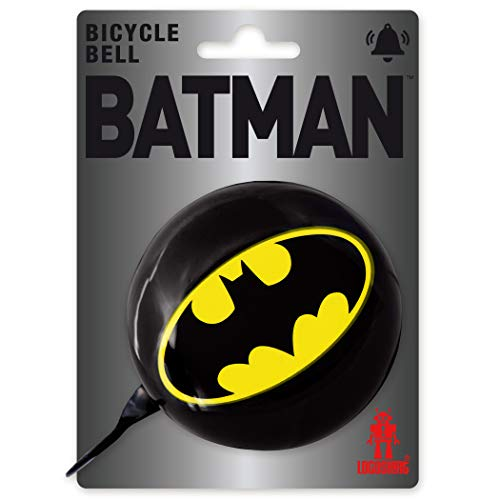 Logoshirt - DC Comics - Batman Logo - Timbre Bicicleta - Retro - Grande - Negro - Diseño Original con Licencia