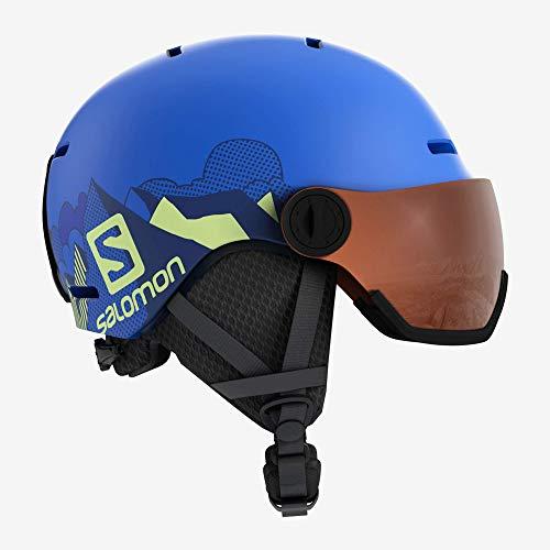 Salomon Kinder Ski- und Snowboardhelm mit Visier, In-Mold-Schale + EPS-Innenschale, Größe M,...