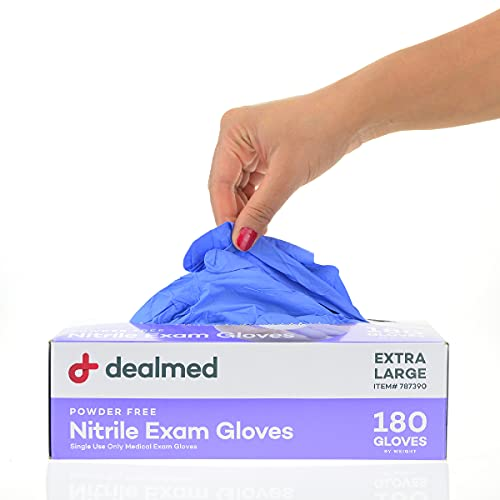 Dealmed Brand Nitrile Medical Grade Exam Gloves, Disposable,...