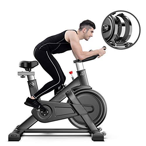 HJHY@ Professionele Indoor Oefening Fiets Comfortabele Zitkussen Zadel Voor Thuis Office Gym, Verstelbare Zit En Stuur, All-inclusive Vliegwiel Met Veiligheid