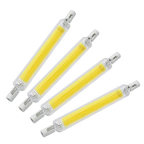 20W LED R7S 118MM J118 J Tipo Bombilla LED regulable 200W Halógena R7S 118MM Bombilla equivalente, lámparas de tubo de cuarzo de filamento de repuesto para iluminación de lámparas de pie (paquete de 4
